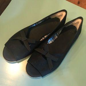 UGG peep toe flats